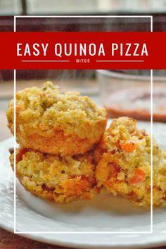 easy healthy quinoa pizza bites recipe