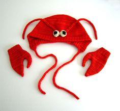 Lobster Hat & Mittens