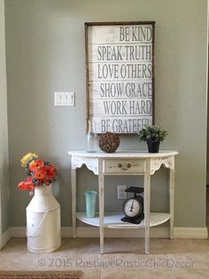 Gorgeous Framed Daily Reminder Sign #farmhousestyle #ad #sign #walldecor #entrywayideas #distressed #framed #dailyreminder #farmhouse