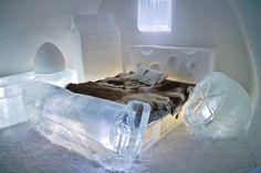 A suite in the Ice Hotel, Kiruna, Sweden    - Photo taken by a friend! :)