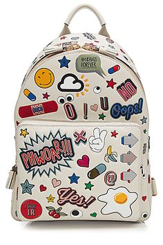 ANYA HINDMARCH  All Over Stickers Mini Leather Backpack | STYLEBOP.com