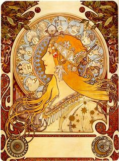 The rags to riches story of Czech Art Nouveau artist Alphonse Mucha. Living alone in Paris in Alphonse Mucha barely made enough money to feed himself. There had been better times. Art And Illustration, Victorian Illustration, Mucha Artist, Alphonse Mucha Art, Arte Van Gogh, Jugendstil Design, Art Nouveau Poster, Art Manga, Inspiration Art