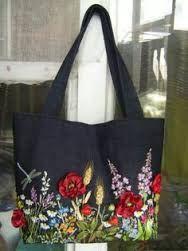 Resultado de imagen para shopping bag with black vintage rouses flowers