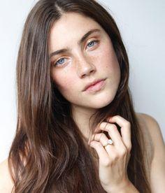 Anna Speckhart < freckles + pale blue eyes