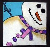 Artsonia Art Exhibit :: 4th Grade Snowmen at Night