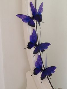 3D Butterfly Wall Art   3 Presented in an organza gift bag  Amazing Colour Purple   Butterflies represent new beginnings and would make a perfect