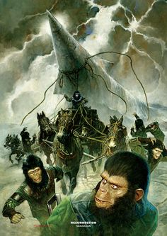 Everything about the mighty PLANET OF THE APES saga, from the original novel, via the classic films of the and right up to the 2011 reboot. Plant Of The Apes, Saga, Science Fiction Books, To Infinity And Beyond, Sci Fi Movies, Original Movie, Cultura Pop, Illustrations, Sci Fi Fantasy
