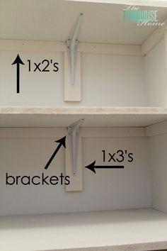 New Open Closet Organization Diy Laundry Rooms 34 Ideas Diy Closet Shelves, Closet Redo, Closet Built Ins, Closet Remodel, Closet Bedroom, Closet Storage, Closet Organization, Master Closet, Closet Ideas