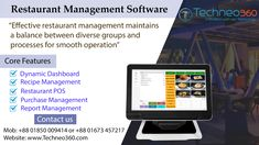 Effective restaurant management maintains a balance between diverse groups and processes for smooth operation. Food costs, inventory tracking, employee booking, food production, customer service and marketing are part of restaurant management. Food Cost, Pos, Customer Service, Accounting, Software, Management, Smooth, Restaurant, Marketing