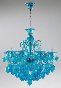 Dale Chihuly is SO creative!  Aqua blue chandelier