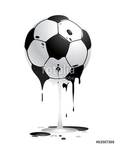 Vektor: ball schmelzend