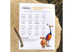 Get a FREE Wilderness Explorer Checklist from Disney!