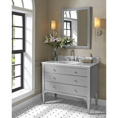 "Buy Fairmont Designs Charlottesville 42"" Vanity for Undermount Oval Sink - Light Gray at ModernBathroom.com. Get free shipping and factory-direct savings on Fairmont Designs Charlottesville 42"" Vanity for Undermount Oval Sink - Light Gray."