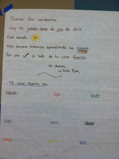 56 best morning message ideas images on pinterest in 2018 this spanish teacher uses a morning message to give the students information about the day m4hsunfo