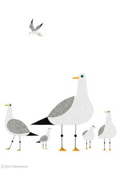 https://flic.kr/p/n3MqGP | The Waitrose Way : Seagulls | Illustration for an advertising campaign.