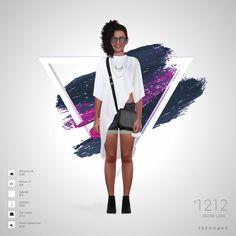 ملابس تم صنعها من قبل Nora استخدام الملابس من The Outnet, Farfetch, Zalando, Forever 21, French Connection, AllSaints UK. يتم انشاء المظهر علي تريند أيدج