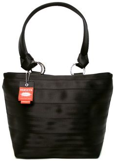 136b7d528b4b Harveys Original Seatbelt Bag Carriage Ring Tote (Black) Handbags On Sale