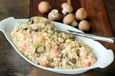 Seafood Risotto and TV segment - Maria Mind Body Health (low carb - cauliflower rice) Primal Recipes, Low Carb Recipes, Cooking Recipes, Healthy Recipes, Freezer Recipes, Lobster Risotto, Seafood Risotto, Cauliflower Risotto, Cauliflower Recipes