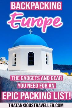 Need a printable packing list for backpacking Europe? Get all the travel accesso… Need a printable packing list for backpacking Backpacking Europe, Packing For Europe, Packing List For Travel, Europe Travel Guide, Budget Travel, Travel Guides, Packing Lists, Travelling Europe, Travel Hacks