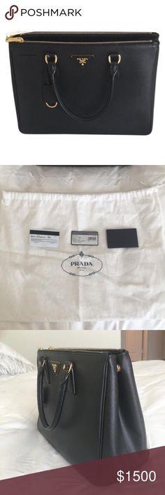PRADA SAFFIANO LEATHER BAG black prada saffiano leather bag Prada Bags Shoulder Bags