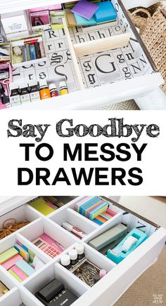 DIY drawer dividers. Say goodbye to messy drawers forever.