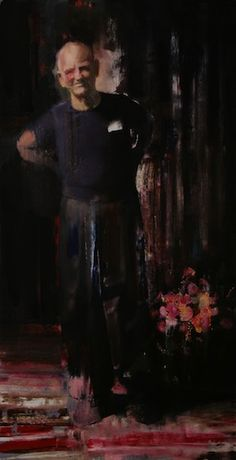 Adrian Ghenie  Hardy, 2008, oil and acrylic on canvas, 200 x 104 cm