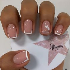 French Manicure Nails, Manicure E Pedicure, French Nails, French Tip Toes, Classy Nails, Stylish Nails, Best Acrylic Nails, Dream Nails, Creative Nails