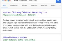 Smitten urban dictionary