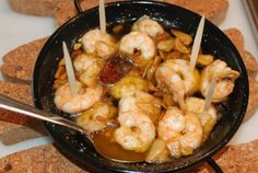 Gambas al ajillo is a classic Spanish tapas dish, served in bars up and down the country. My take on this spicy garlic prawn recipe could hardly be simpler, quicker or more delicious… Ingredients You will need: 300g peeled, raw prawns 125ml olive oil 6 large cloves of garlic – sliced 1 x dried …