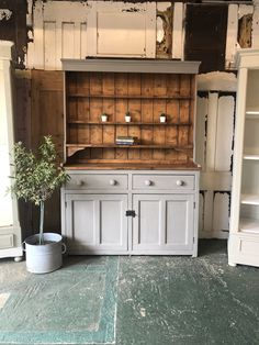 Rustic Painted 2 Part Welsh Dresser White Bedroom Furniture, Funky Furniture, Upcycled Furniture, Shabby Chic Furniture, Painted Furniture, Home Furniture, Refurbished Furniture, Luxury Furniture, Vintage Furniture