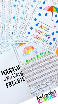 Make writing a part of everyday in the classroom or at home with these NO PREP Journal Writing Prompts designed for emerging writers in kindergarten or first grade.  These are perfect for teachers or homeschooling families.  Try a journal writing FREEBIE when you subscribe to Kindergarten Korner!   #kindergarten #firstgrade #writing #writingcenters #writersworkshop #journalwriting #freebies #teacherspayteachers