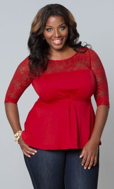 #plussize #red #top at Curvalicious Clothes #bbw #curvy #fullfigured #plussize #thick #beautiful #fashionista #style #fashion #shop #online www.curvaliciousclothes.com TAKE 15% OFF Use code: SVE15 at checkout