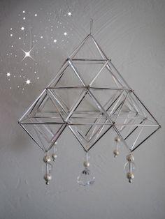 Scandinavian Christmas, Ceiling Lights, Curtains, Mobiles, Handmade, Windows, Home Decor, Sacred Geometry, Blinds
