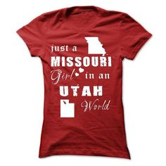 MISSOURI GIRL IN UTAH T-Shirts, Hoodies, Sweatshirts, Tee Shirts (19.99$ ==► Shopping Now!)