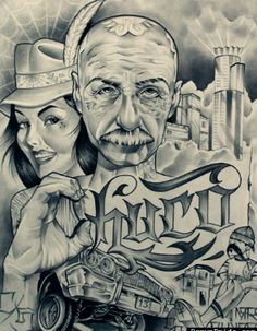 Rip chuco. Chicano Art Tattoos, Chicano Drawings, Gangster Tattoos, Lowrider Tattoo, Lowrider Art, Chicano Love, Cholo Art, Prison Art, Black And White Comics