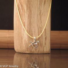 Mini Paard Ketting: waxkoord ketting diverse kleuren