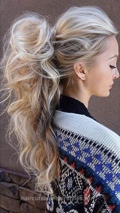 Beautiful Want to class up your pony tail? Easily create a high pony like this for a beautiful hairdo that simply oozes elegance. This eye catching style is perfect for speci ..