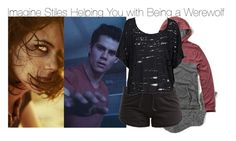 Imagine Stiles Helping You with Being a Werewolf by fandomimagineshere on Polyvore featuring polyvore мода style Stussy Hollister Co. adidas J.Crew bathroom women's clothing women's fashion women female woman misses juniors