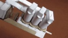 Amazing working paper model of a V6 engine