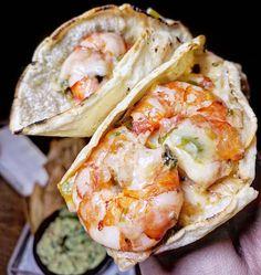 Shrimp, Poblano Peppers & Menonita Cheese Taco - Long Island City, NY.