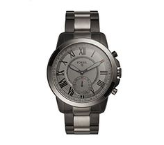 Fossil Q Grant Gen 2 Men's Smoke-Tone Stainless Steel Hybrid Smartwatch – Watches for Boys Smartwatch, Bluetooth, Smartphone, Fossil Q, Fossil Watches For Men, Rfid Wallet, Black Smoke, Watch Sale, Fitness Tracker
