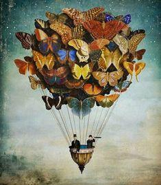 Butterfly hot air balloon art butterflies artistic amazing hot air balloon art pictures