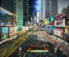 Stephen Wilkes, Times Square photocollage blending day and night