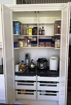Previous ALLKIND Joinery – Kitchens Gallery Source by ajackelcock Previous Hidden Kitchen, Kitchen Pantry, Kitchen Decor, Kitchen Design, Kitchen Ideas, Pantry Design, Kitchen Cabinets, Kitchen Storage Solutions, Kitchen Gallery