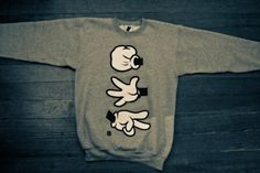 sweater crewneck unisex mickey mouse tiger micky mouse hands pull over shirt hoodie grey