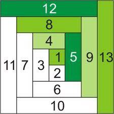 Log Cabin quilt block pattern