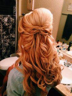 Half up wedding hair updo