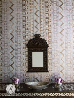Primitivo Lace Allover Wall Stencil   Royal Design Studio   ALL Lace Stencils 20% off through 10/13 with code LACE20