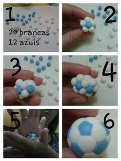 How to make a small football for cupcakes