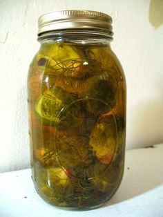 Pickled Brussels Sprouts with Fennel Fronds